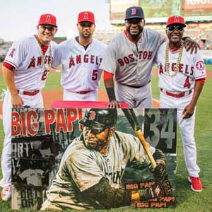Angels present David Ortiz with Stephen Hollnad painting