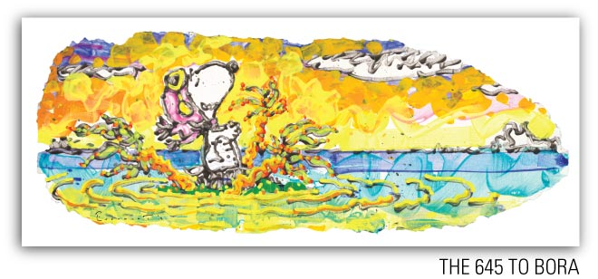 The 645 to Bora by Tom Everhart from the Motu Homies Series